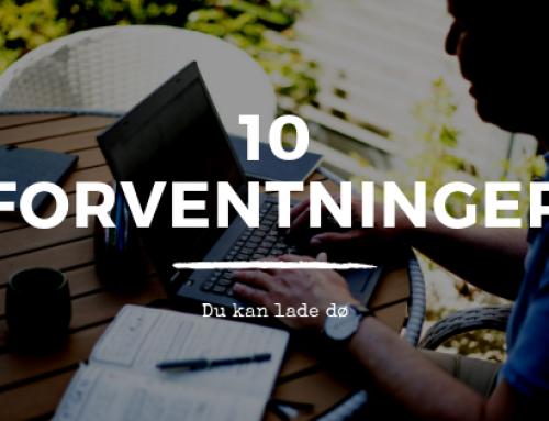 10 forventninger, du kan lade dø