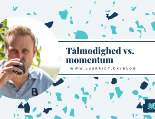 Tålmodighed vs. momentum – og en genial lille øvelse