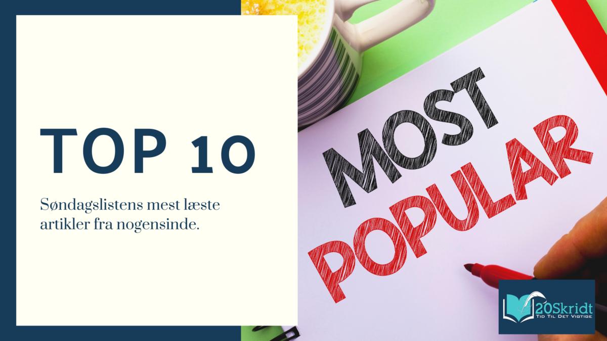 10 mest populære