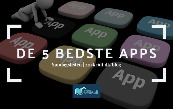 5 bedste apps